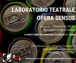 Locandina Laboratorio Opera Sensus
